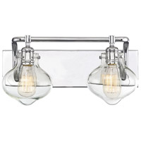 Allman 2 Light 18 inch Polished Chrome Bath Bar Wall Light