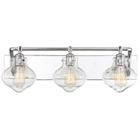 Allman 3 Light 26 inch Polished Chrome Bath Bar Wall Light