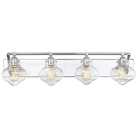 Savoy House 8-9400-4-11 Allman 4 Light 36 inch Polished Chrome Bath Bar Wall Light