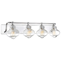 Savoy House 8-9400-4-11 Allman 4 Light 36 inch Polished Chrome Bath Bar Wall Light alternative photo thumbnail