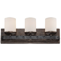Savoy House 8-9542-3-196 Alsace 3 Light 21 inch Reclaimed Wood Bath Bar Wall Light in White Etched photo thumbnail