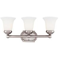 Savoy House Main Street 3 Light Vanity Light in Pewter 8P-60500-3-69