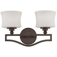 Terrell 2 Light 16 inch English Bronze Bath Bar Wall Light