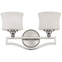 Terrell 2 Light 16 inch Satin Nickel Bath Bar Wall Light