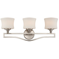 Terrell 3 Light 26 inch Satin Nickel Bath Bar Wall Light