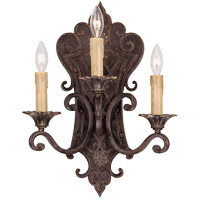 Savoy House Southerby 3 Light Wall Sconce in Florencian Bronze 9-0158-3-76