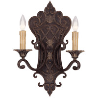Savoy House Southerby 2 Light Wall Sconce in Florencian Bronze 9-0159-2-76