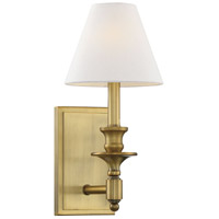 Savoy House 9-0700-1-322 Washburn 1 Light 7 inch Warm Brass Sconce Wall Light