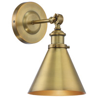 Glenn 9 inch 60 watt Warm Brass Adjustable Wall Sconce Wall Light
