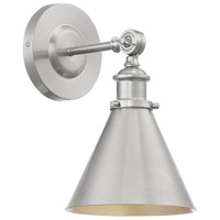Glenn 9 inch 60 watt Satin Nickel Adjustable Wall Sconce Wall Light