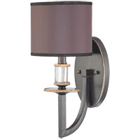 Savoy House Modern Royal 1 Light Wall Sconce in Distressed Bronze 9-1077-1-59