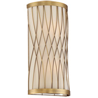 Spinnaker 2 Light 8 inch Warm Brass Sconce Wall Light