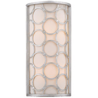 Triona 2 Light 8 inch Silver Leaf Sconce Wall Light