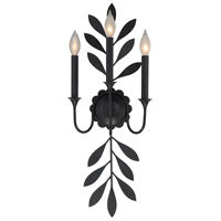 Trumpet 3 Light 10 inch Aged Iron Sconce Wall Light