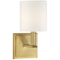 Savoy House 9-1200-1-322 Waverly 1 Light 5 inch Warm Brass Sconce Wall Light
