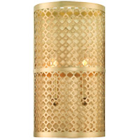 Savoy House Fairview 2 Light Sconce in Rubbed Brass 9-1284-2-325