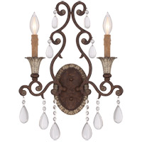 Savoy House Florence 2 Light Wall Sconce in New Tortoise Shell 9-1411-2-56
