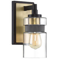 Savoy House 9-17003-1-77 Colfax 1 Light 5 inch Bronze with Brass Accents Sconce Wall Light