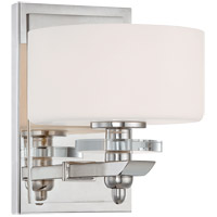 Oneida 1 Light 7 inch Polished Nickel Sconce Wall Light in White Opal