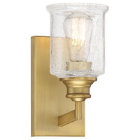 Savoy House 9-1972-1-322 Hampton 1 Light 5 inch Warm Brass Bath Light Wall Light