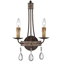 Carlisle 2 Light 12 inch Bronze Patina Sconce Wall Light
