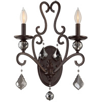 Stratton 2 Light 13 inch Statuary Bronze Sconce Wall Light
