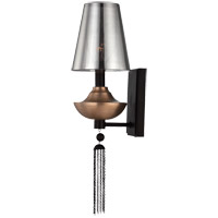 Savoy House Avington 1 Light Sconce in Ebony with Titian Accents 9-213-1-19