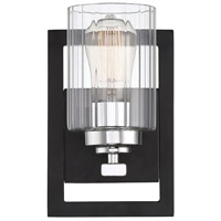 Savoy House 9-2154-1-67 Redmond 1 Light 6 inch Matte Black with Polished Chrome Accents Wall Sconce Wall Light