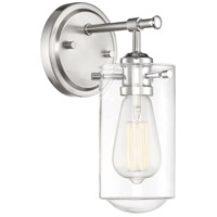 Savoy House 9-2262-1-144 Clayton 1 Light 5 inch Satin Nickel / Chrome Accents Sconce Wall Light in Satin Nickel with Chrome