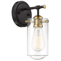 Savoy House 9-2262-1-79 Clayton 1 Light 5 inch English Bronze and Warm Brass Wall Sconce Wall Light