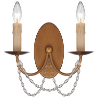 Savoy House Abilene 2 Light Sconce in Vintage Brass 9-2312-2-155