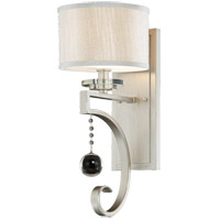 Rosendal 1 Light 7 inch Silver Sparkle Sconce Wall Light