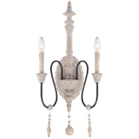 Savoy House Ashland 2 Light Sconce in White Washed Driftwood 9-293-2-23