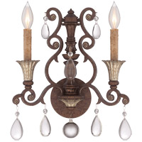 Savoy House St. Laurence 2 Light Wall Sconce in New Tortoise Shell with Silver 9-3013-2-8