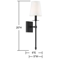 Savoy House 9-302-1-89 Monroe 1 Light 5 inch Matte Black Sconce Wall Light alternative photo thumbnail