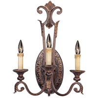 Savoy House Gallant 3 Light Wall Sconce in Florencian Bronze 9-36759-3-76