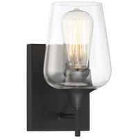 Savoy House 9-4030-1-BK Octave 1 Light 5 inch Black Wall Sconce Wall Light