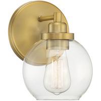 Savoy House 9-4050-1-322 Carson 1 Light 6 inch Warm Brass Bath Light Wall Light