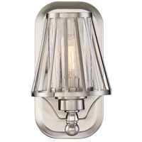 Caroll 1 Light 5 inch Satin Nickel Sconce Wall Light