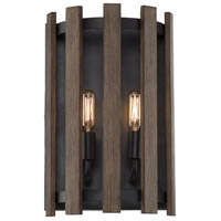Santiago 2 Light 9 inch Sapele Sconce Wall Light