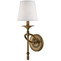 Savoy House Foxcroft 1 Light Sconce in Aged Brass 9-4156-1-291