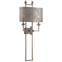 Savoy House Structure 2 Light Sconce in Aged Steel 9-4304-2-242