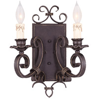Savoy House 9-4318-2-17 Bourges 2 Light 12 inch Forged Black Sconce Wall Light photo thumbnail