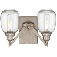 Orsay 2 Light 12 inch Industrial Steel Sconce Wall Light in Clear