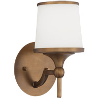 Savoy House Hagen 1 Light Wall Sconce in Heirloom Brass 9-4383-1-178