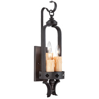 Savoy House Torre 3 Light Sconce in Forged Black 9-4402-3-17