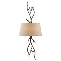 Brambles 2 Light 14 inch Moonlit Bark Sconce Wall Light