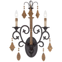 Savoy House Aragon 2 Light Wall Sconce in Penate Gold 9-503-2-286