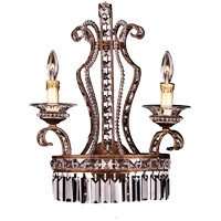 Savoy House Crystal Lustres Vera Cruz 2 Light Sconce in New Tortoise Shell w/Silver 9-5037-2-8 photo thumbnail