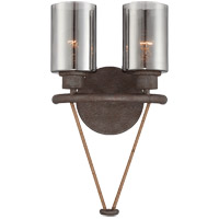 Maverick 2 Light 10 inch Artisan Rust Sconce Wall Light
